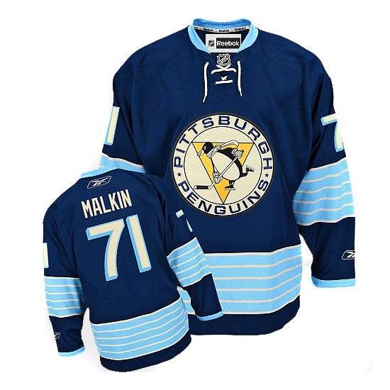 Evgeni Malkin Pittsburgh Penguins Premier New Third Winter Classic Vintage Reebok Jersey - Navy Blue