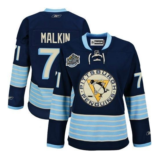 Evgeni Malkin Pittsburgh Penguins Women's Premier New Third Winter Classic Vintage Reebok Jersey - Navy Blue