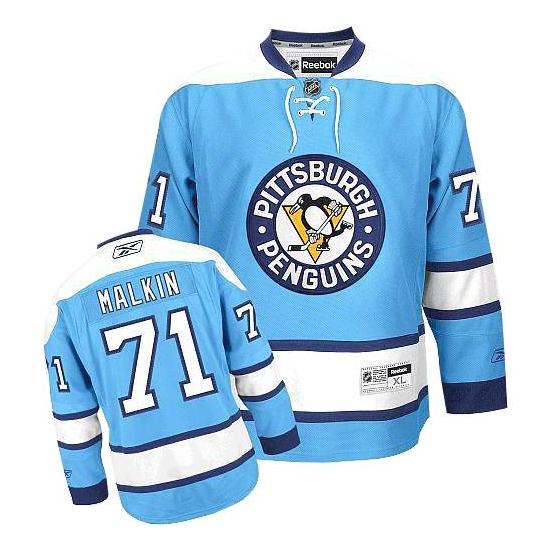 Evgeni Malkin Pittsburgh Penguins Youth Premier Third Reebok Jersey - Light Blue