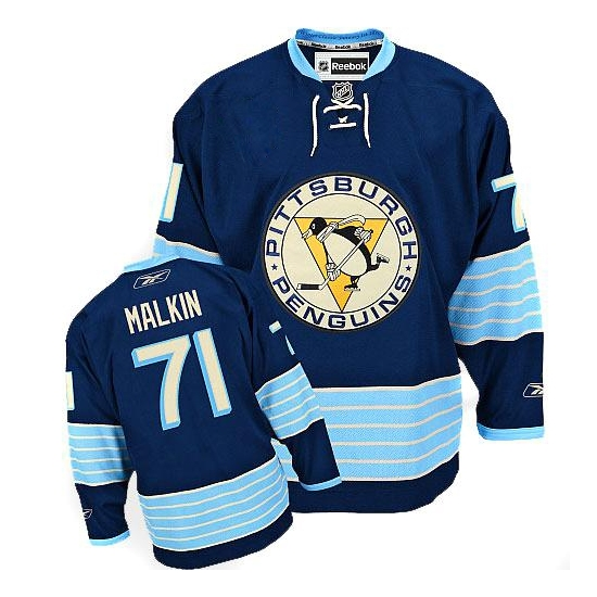 Evgeni Malkin Pittsburgh Penguins Youth Premier New Third Winter Classic Vintage Reebok Jersey - Navy Blue