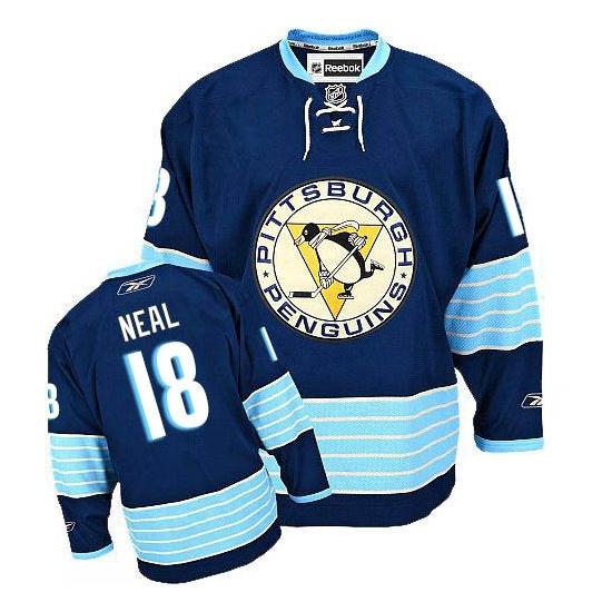 James Neal Pittsburgh Penguins Premier New Third Winter Classic Vintage Reebok Jersey - Navy Blue