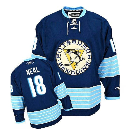 James Neal Pittsburgh Penguins Youth Premier New Third Vintage Reebok Jersey - Navy Blue