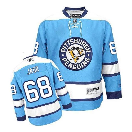 Jaromir Jagr Pittsburgh Penguins Premier Third Reebok Jersey - Light Blue