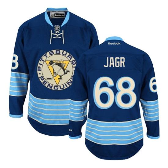 Jaromir Jagr Pittsburgh Penguins Authentic New Third Winter Classic Vintage Reebok Jersey - Navy Blue