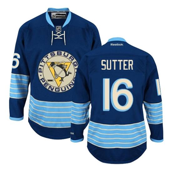Brandon Sutter Pittsburgh Penguins Premier New Third Winter Classic Vintage Reebok Jersey - Navy Blue