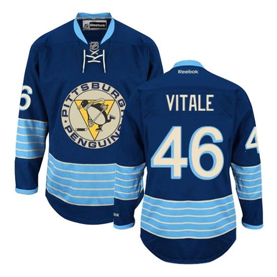 Joe Vitale Pittsburgh Penguins Premier New Third Winter Classic Vintage Reebok Jersey - Navy Blue