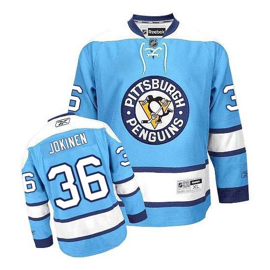 Jussi Jokinen Pittsburgh Penguins Authentic Third Reebok Jersey - Light Blue