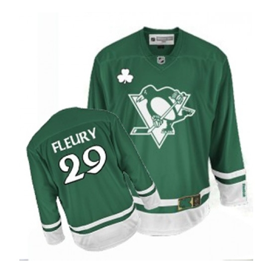 Marc-Andre Fleury Pittsburgh Penguins Premier St Patty's Day Reebok Jersey Premier St Patty's Day Reebok Jersey - Green