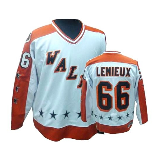 Mario Lemieux Pittsburgh Penguins Authentic All Star Throwback CCM Jersey - White