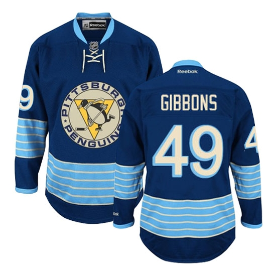 Brian Gibbons Pittsburgh Penguins Authentic Third Vintage Reebok Jersey - Navy Blue