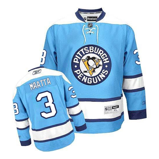 Olli Maatta Pittsburgh Penguins Authentic Third Reebok Jersey - Light Blue