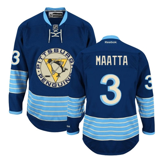 Olli Maatta Pittsburgh Penguins Premier New Third Winter Classic Vintage Reebok Jersey - Navy Blue