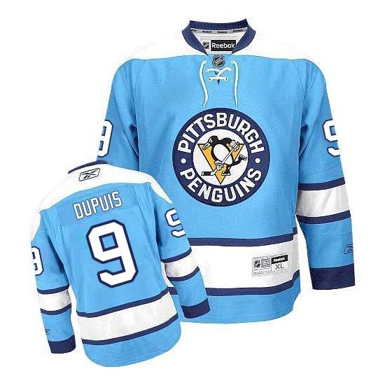 Pascal Dupuis Pittsburgh Penguins Authentic Third Reebok Jersey - Light Blue
