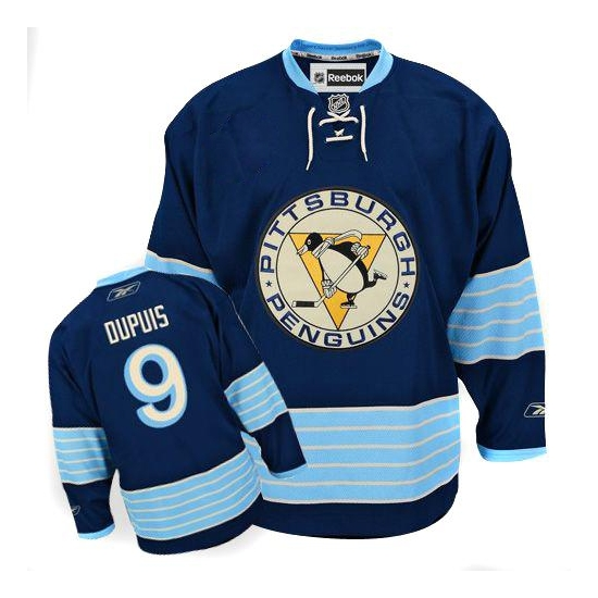 Pascal Dupuis Pittsburgh Penguins Authentic New Third Winter Classic Vintage Reebok Jersey - Navy Blue