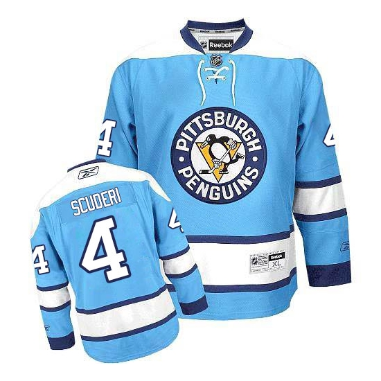 Rob Scuderi Pittsburgh Penguins Authentic Third Reebok Jersey - Light Blue