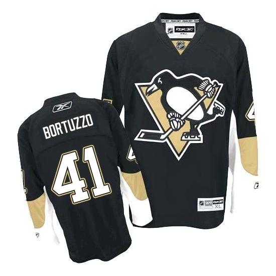 Robert Bortuzzo Pittsburgh Penguins Authentic Home Reebok Jersey - Black