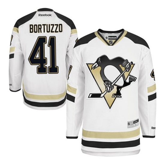 Robert Bortuzzo Pittsburgh Penguins Premier 2014 Stadium Series Reebok Jersey - White
