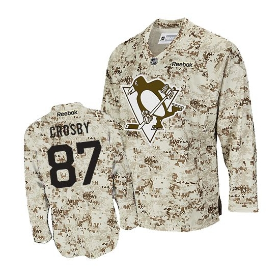 Sidney Crosby Pittsburgh Penguins Authentic Reebok Jersey - Camouflage