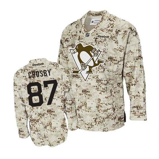 Sidney Crosby Pittsburgh Penguins Premier Reebok Jersey - Camouflage