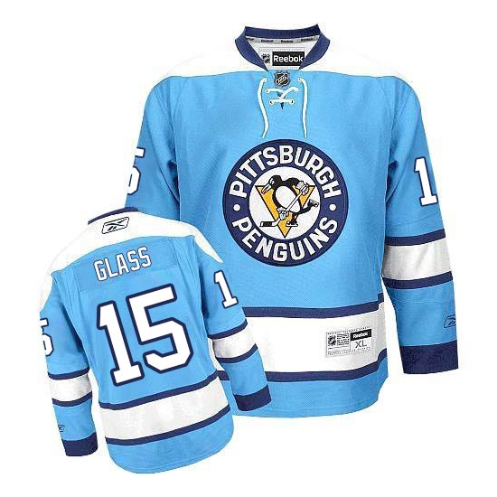 Tanner Glass Pittsburgh Penguins Authentic Third Reebok Jersey - Light Blue