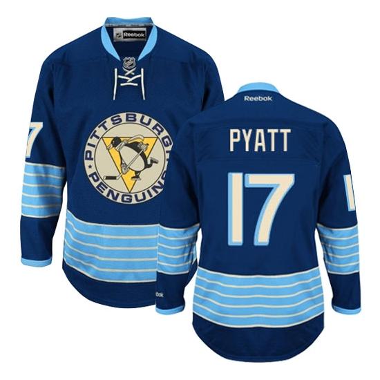 Taylor Pyatt Pittsburgh Penguins Authentic Third Vintage Reebok Jersey - Navy Blue