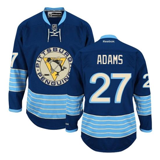 Craig Adams Pittsburgh Penguins Premier Third Vintage Reebok Jersey - Navy Blue