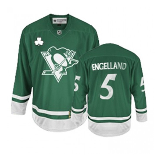 Deryk Engelland Pittsburgh Penguins Authentic St Patty's Day Reebok Jersey - Green
