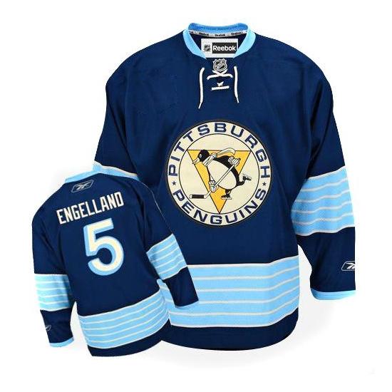Deryk Engelland Pittsburgh Penguins Authentic New Third Winter Classic Vintage Reebok Jersey - Navy Blue