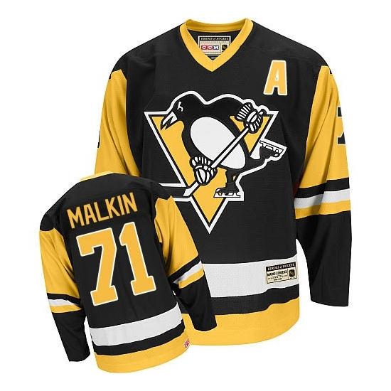 Evgeni Malkin Pittsburgh Penguins Premier Throwback CCM Jersey - Black