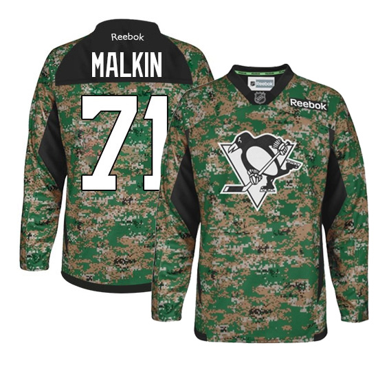 Evgeni Malkin Pittsburgh Penguins Authentic Veterans Day Practice Reebok Jersey - Camo