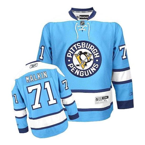 Evgeni Malkin Pittsburgh Penguins Authentic Third Reebok Jersey - Light Blue