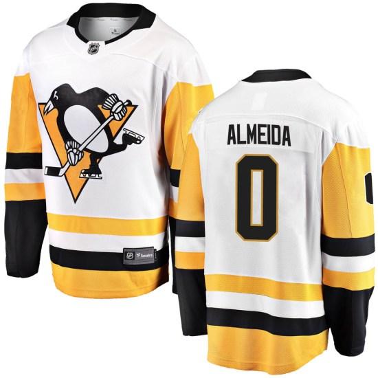 Justin Almeida Pittsburgh Penguins Youth Breakaway Away Fanatics Branded Jersey - White