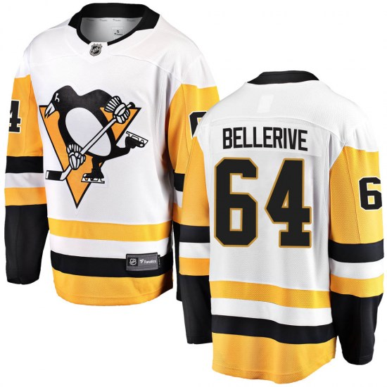 Jordy Bellerive Pittsburgh Penguins Youth Breakaway Away Fanatics Branded Jersey - White
