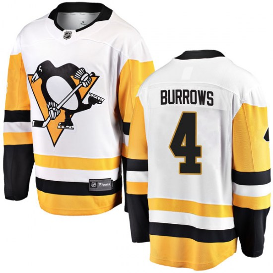 Dave Burrows Pittsburgh Penguins Youth Breakaway Away Fanatics Branded Jersey - White