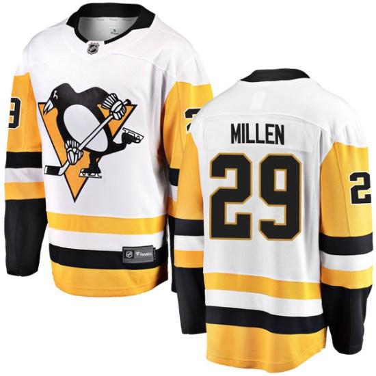 Greg Millen Pittsburgh Penguins Youth Breakaway Away Fanatics Branded Jersey - White