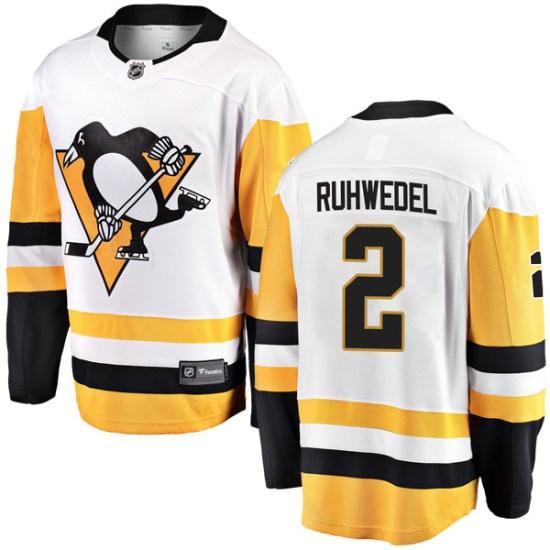 Chad Ruhwedel Pittsburgh Penguins Youth Breakaway Away Fanatics Branded Jersey - White