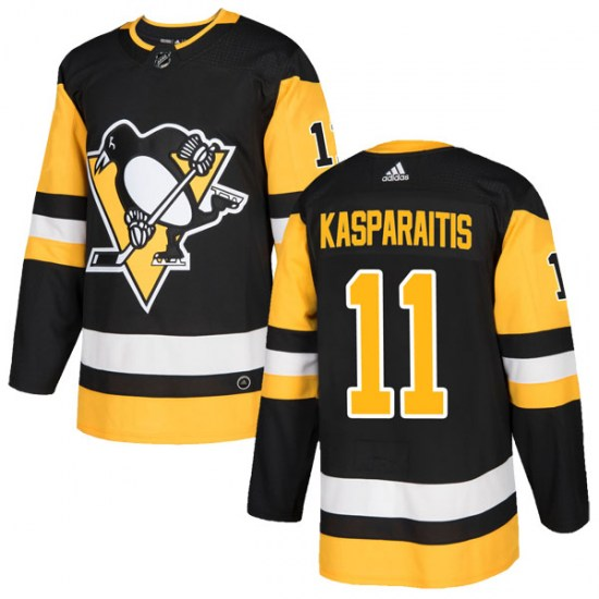 Darius Kasparaitis Pittsburgh Penguins Youth Authentic Home Adidas Jersey - Black