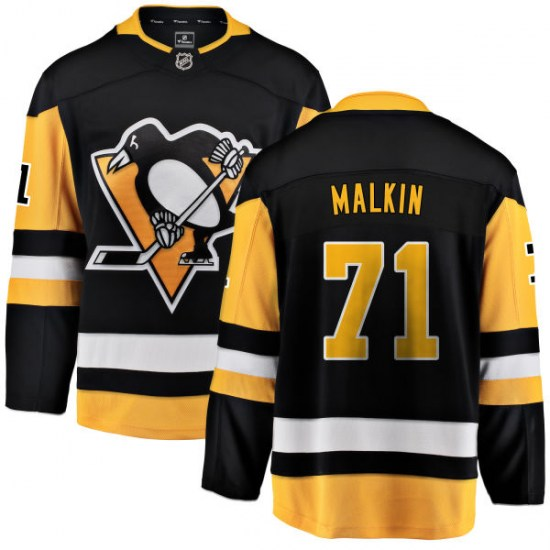 Evgeni Malkin Pittsburgh Penguins Breakaway Home Fanatics Branded Jersey - Black
