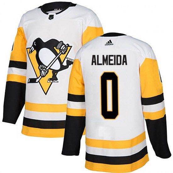 Justin Almeida Pittsburgh Penguins Youth Authentic Away Adidas Jersey - White