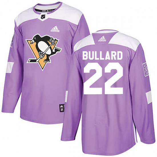 Mike Bullard Pittsburgh Penguins Authentic Fights Cancer Practice Adidas Jersey - Purple
