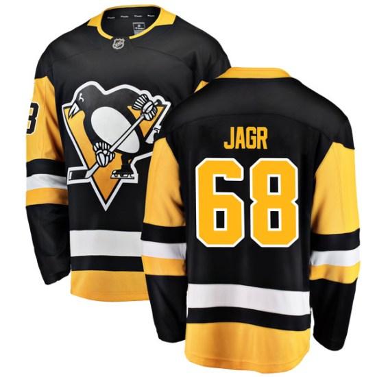 Jaromir Jagr Pittsburgh Penguins Breakaway Home Fanatics Branded Jersey - Black