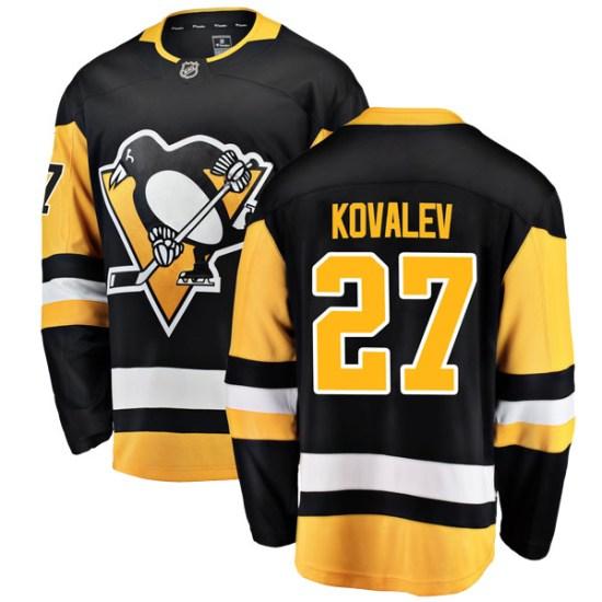 Alex Kovalev Pittsburgh Penguins Breakaway Home Fanatics Branded Jersey - Black