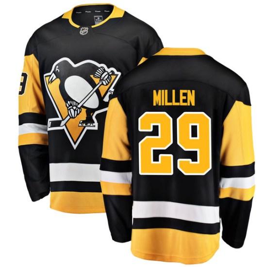 Greg Millen Pittsburgh Penguins Breakaway Home Fanatics Branded Jersey - Black