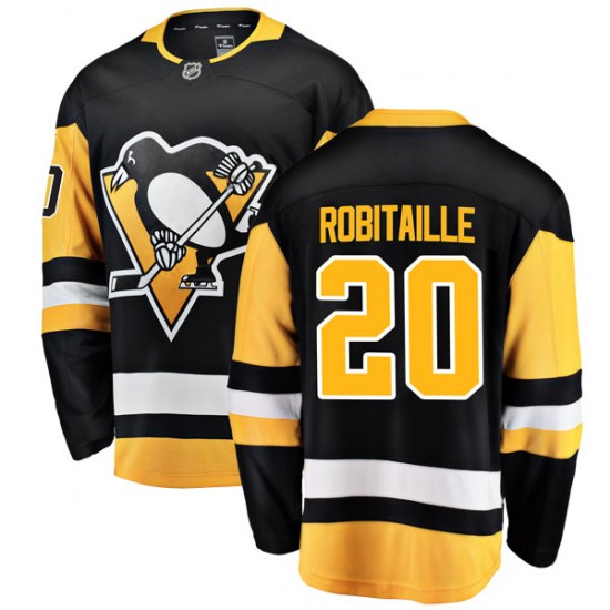 Luc Robitaille Pittsburgh Penguins Breakaway Home Fanatics Branded Jersey - Black