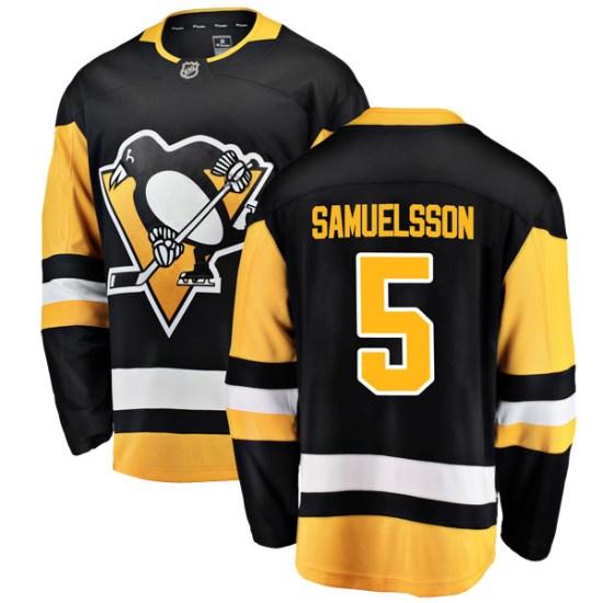Ulf Samuelsson Pittsburgh Penguins Breakaway Home Fanatics Branded Jersey - Black