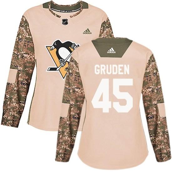 Jonathan Gruden Pittsburgh Penguins Women's Authentic Veterans Day Practice Adidas Jersey - Camo