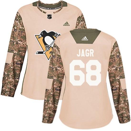Jaromir Jagr Pittsburgh Penguins Women's Authentic Veterans Day Practice Adidas Jersey - Camo