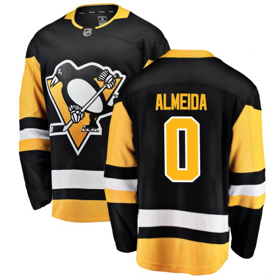 Justin Almeida Pittsburgh Penguins Youth Breakaway Home Fanatics Branded Jersey - Black