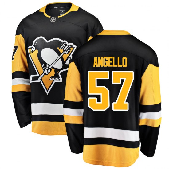 Anthony Angello Pittsburgh Penguins Youth Breakaway Home Fanatics Branded Jersey - Black