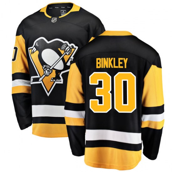 Les Binkley Pittsburgh Penguins Youth Breakaway Home Fanatics Branded Jersey - Black